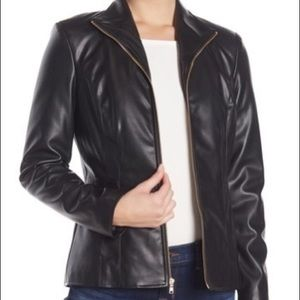 New with tags Cole haan Faux leather jacket small